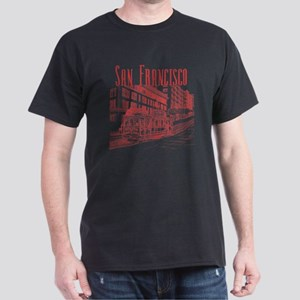 CableCar_10x10_apparel_RedOutline Dark T-Shirt