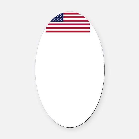 usa10_white.gif Oval Car Magnet