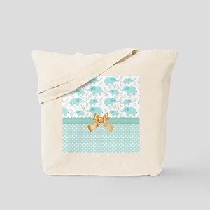 Baby Green Elephants Tote Bag