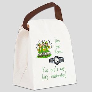 T_Irish wristwatchwhite Canvas Lunch Bag