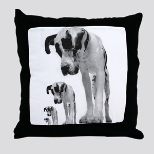 Down the line Danes Throw Pillow