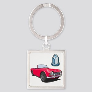 TR4red-10 Square Keychain