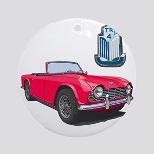 TR4red-10 Round Ornament