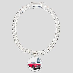 TR4red-10 Charm Bracelet, One Charm