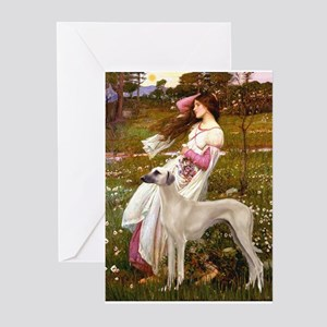Wind Flowers & Sloughi Greeting Cards (Package of