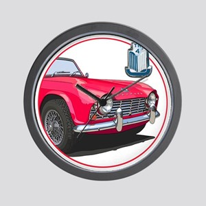TR4red-C8trans Wall Clock