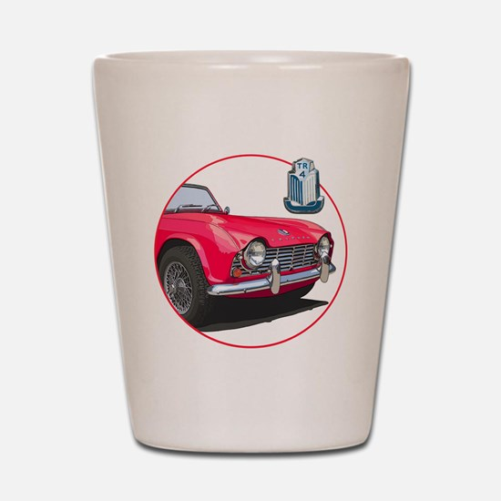 TR4red-C8trans Shot Glass