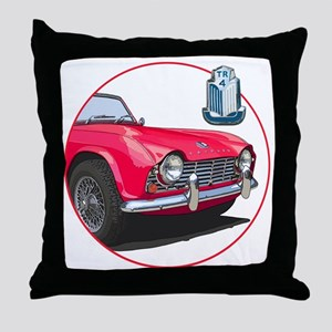 TR4red-C8trans Throw Pillow