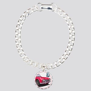 TR4red-C8trans Charm Bracelet, One Charm