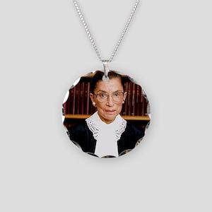 ART Coaster Ruth Bader Ginsb Necklace Circle Charm