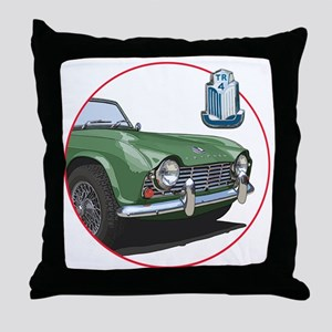 TR4green-C8trans Throw Pillow