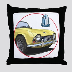 TR4yell-C8trans Throw Pillow