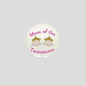 Mum of Twincesses Mini Button