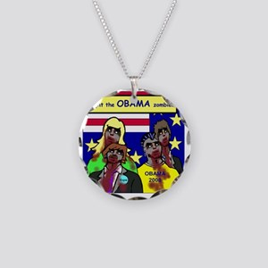 zombie Necklace Circle Charm