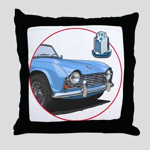 TR4blu-C8trans Throw Pillow