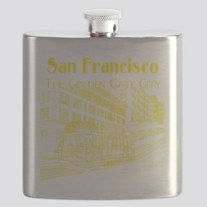CableCar_10x10_apparel_YellowOutline Flask