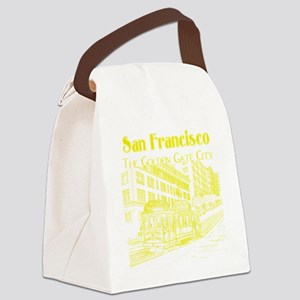 CableCar_10x10_apparel_YellowOutl Canvas Lunch Bag