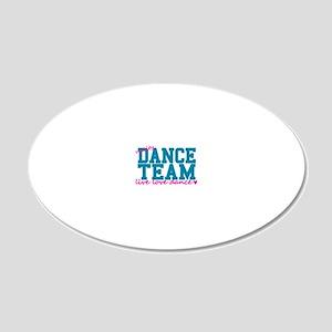 dance-team-varsity-college-b 20x12 Oval Wall Decal