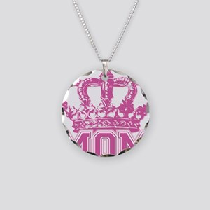 crown_mom Necklace Circle Charm