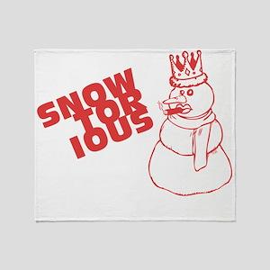 snowtorious_tshirt_white Throw Blanket