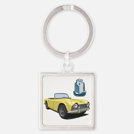 TR4yell-10 Square Keychain