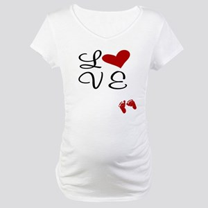 Love Baby Feet Maternity T-Shirt