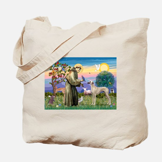 Saint Francis & Sloughi Tote Bag