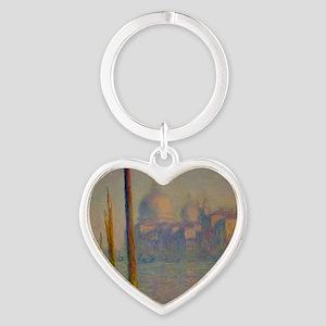The Grand Canal, Venice Heart Keychain