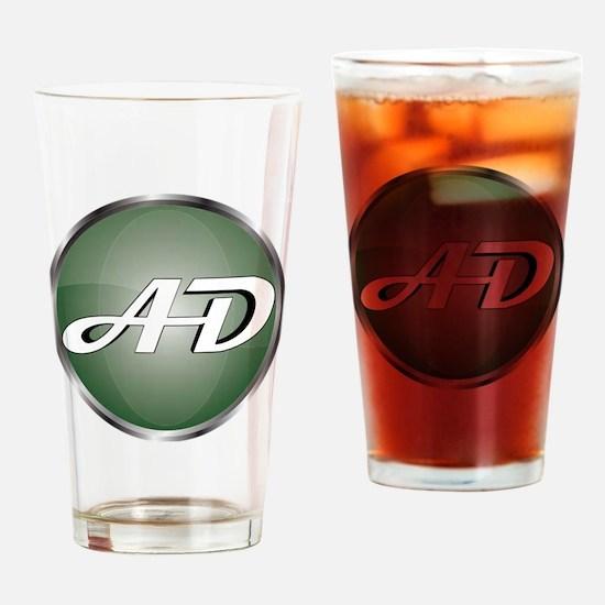 AD Logo Drinking Glass