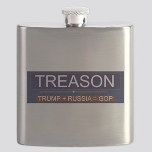 Trump Treason Flask