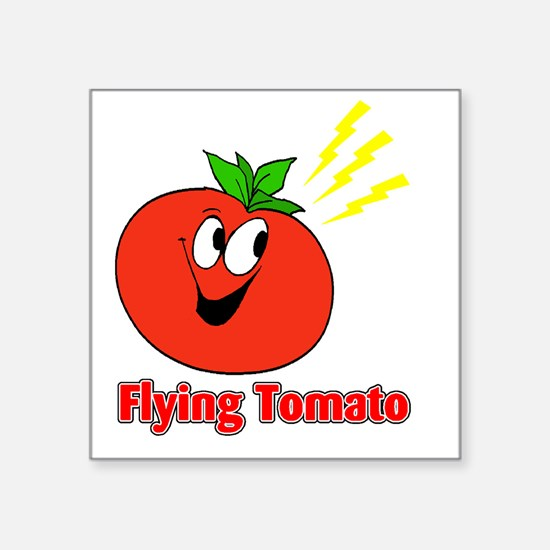 "flying tomato Square Sticker 3"" x 3"""