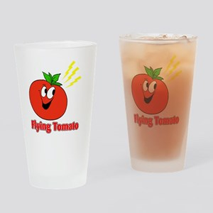 flying tomato Drinking Glass