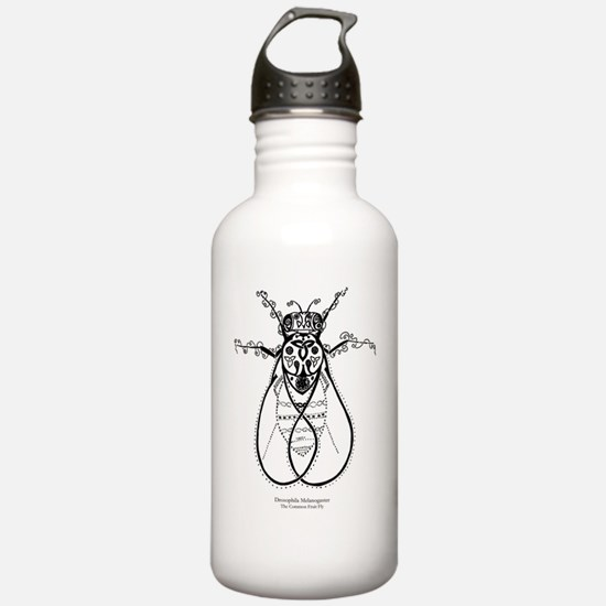 2-fly with words Water Bottle