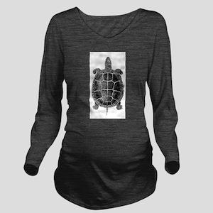Vintage Turtle Long Sleeve Maternity T-Shirt