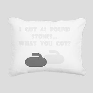 42PoundStonesDarkTee Rectangular Canvas Pillow