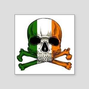"irish bad ass_plain Square Sticker 3"" x 3"""