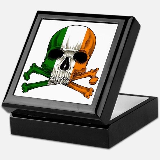 irish bad ass_plain Keepsake Box