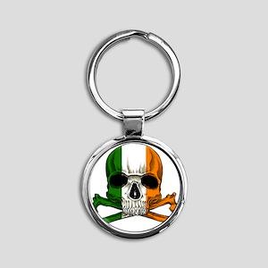 irish bad ass_plain Round Keychain