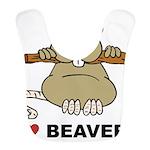 I Love Beavers Bib