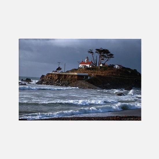 (14) battery point lighthouse  gu Rectangle Magnet