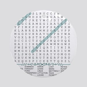 wordsearch2 Round Ornament