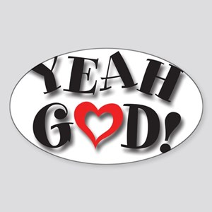 Y-God Logo for CP Sticker (Oval)
