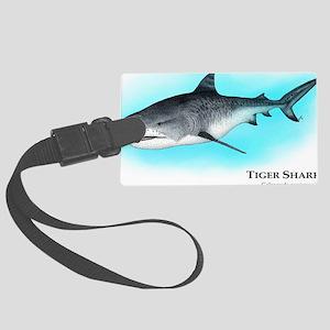 Tiger Shark Large Luggage Tag