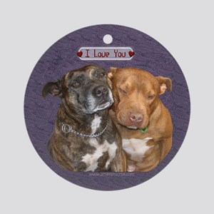 I love you Staffy Ornament (Round)