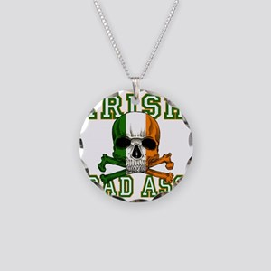 irish bad ass Necklace Circle Charm