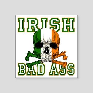 "irish bad ass Square Sticker 3"" x 3"""