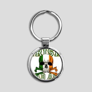 irish bad ass Round Keychain
