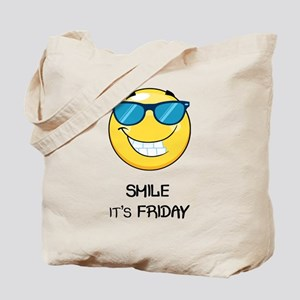 It's Friday smiley Tote Bag