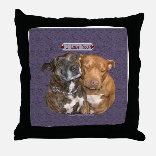 I love you Staffy Throw Pillow