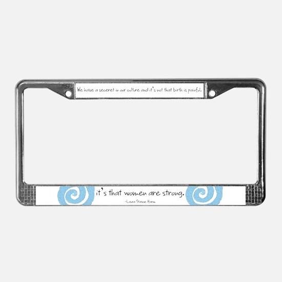 Unique Midwifery License Plate Frame